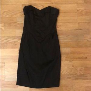 Betsey Johnson Black Satin Dress